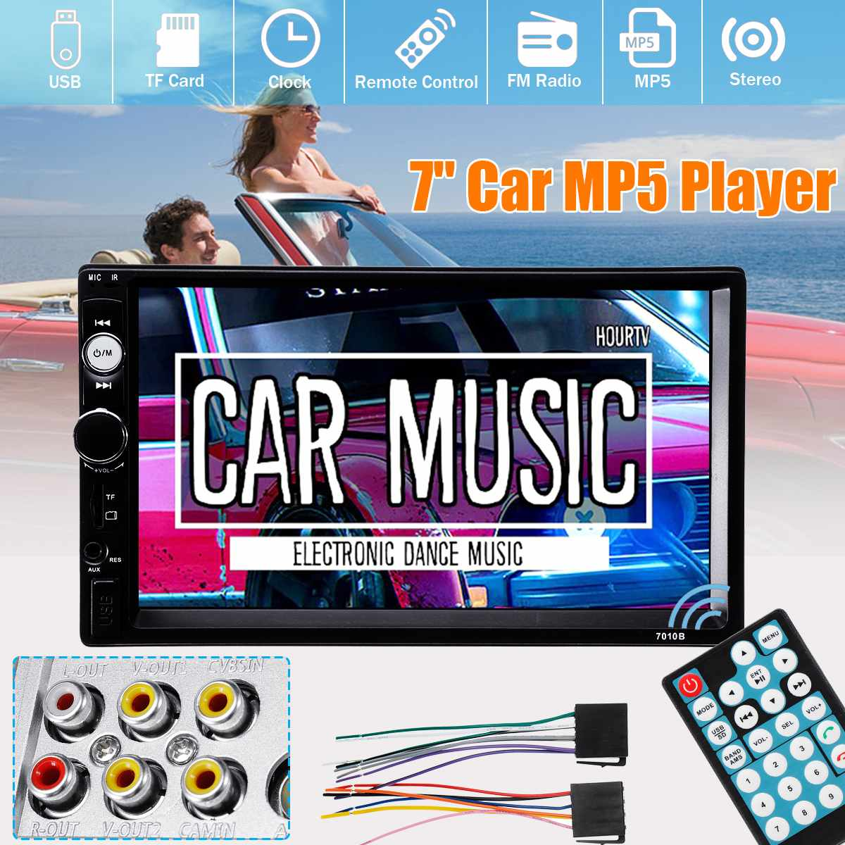 7 Car MP5 Player DC 12V 2 Din In Dash bluetooth Stereo AUX Radio Touch-Screen +Remote Built-in Car DVR System Car Video Players7 Car MP5 Player DC 12V 2 Din In Dash bluetooth Stereo AUX Radio Touch-Screen +Remote Built-in Car DVR System Car Video Players