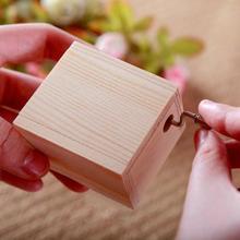 Креативная деревянная мини музыкальная шкатулка DIY механическая рукоятка ремесло Рождественский подарок на день рождения Подарочная Музыкальная Коробка движение