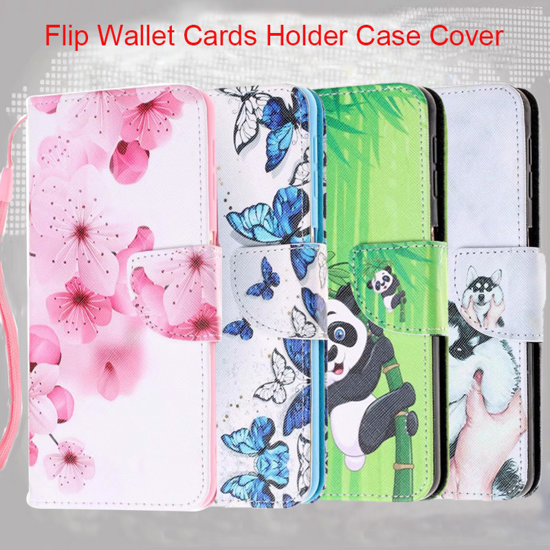 Unicorn Owl Printed <font><b>Flip</b></font> Leather Wallet Case Cover sfor <font><b>Samsung</b></font> A10 A20 A30 A50 A6 A8 <font><b>A7</b></font> 2018 A750 A5 A3 <font><b>2017</b></font> Stand Phone Coque image