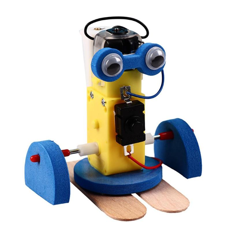 Educational Puzzle Toy DIY Robot Toy Technological Making Materials Model Educational Child Gift PNLO