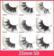 100 Pairs Free DHL 25mm Lashes Dramatic Mink Lashes Soft Long 3D Mink Eyelashes Crisscross Full Volume Eye Lashes Makeup dhl 100