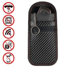 1 шт./2 шт. портативный сигнальный блокатор автомобильный чехол для ключей Faraday клетка без ключа брелок сумка RFID экранирующая сумка с кольцом для ключей