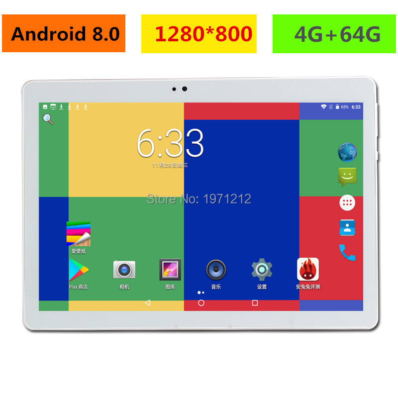 2019 NEW Computer 10.1 Inch Tablet PC Octa Core Android 8.0 4GB RAM  64GB ROM 8 Core 10 10.1 Resolution 1280x800