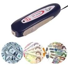 2 в 1 портативный мини-детектор поддельный денежный банкнот Проверка тестер с магнитным и УФ-светильник для USD евро