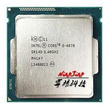 Processeur Intel Core i5 4670 i5 4670, Quad Core 3.4 processeur dunité centrale, 6M, 84W, LGA 1150
