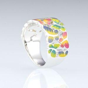 Image 4 - SANTUZZA bague en argent pour les femmes 925 en argent Sterling papillons anneaux pour dames cubique zircone anneau fête mode bijoux émail