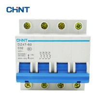 CHINT 4 Pole Mini Circuit Breaker Household Air Switch Short Protector Mcb DZ47-60 4P C32 Free Shipping