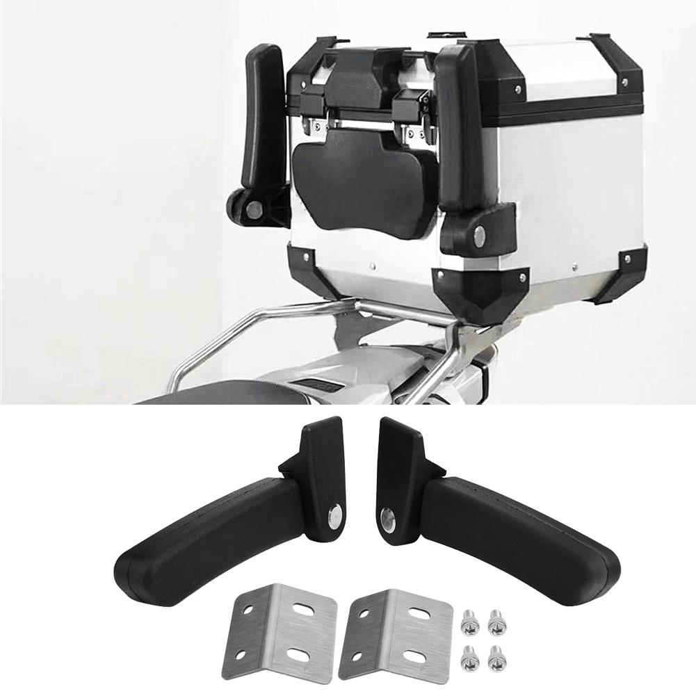 Motorcycle Passenger Armrest ABS Passenger Rear Folding Top Case Box Rear Seat Armrest Kit Universal for