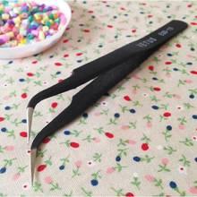 Углеродистая сталь высокая точность черный Изогнутый пинцет DIY ремесленные зажим плоскогубцы щипцы перлер бусина кусачки бусины Хама