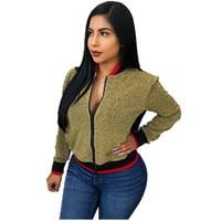 2019 New Arrival Hot Sale Regular Full Jacket Jaqueta Feminina Inverno Bomber European And American Women's Flash Loose Jacket