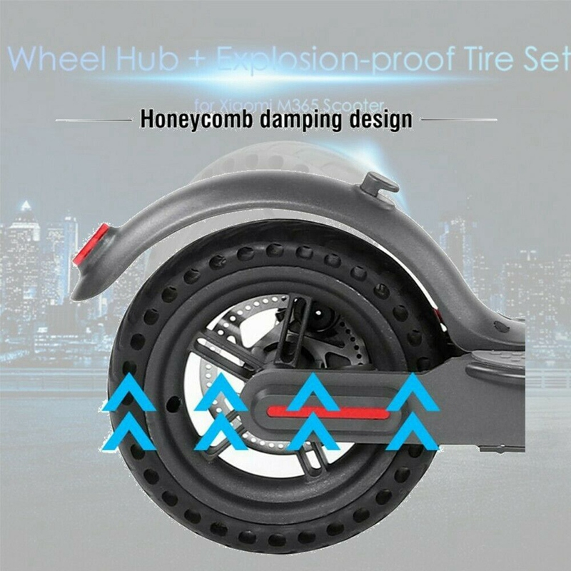 Image 2 - 8.5 Inch Damping Solid Tyres Hollow Non Pneumatic Wheel Hub And Explosion Proof Tire Set For Xiaomi Mijia M365 Electric Scoote-in Scooter Parts & Accessories from Sports & Entertainment