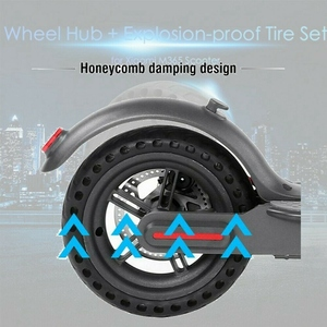 Image 2 - 8.5 Inch Damping Solid Tyres Hollow Non Pneumatic Wheel Hub And Explosion Proof Tire Set For Xiaomi Mijia M365 Electric Scoote