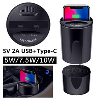 5/7.5/10W X9 QI Wireless Car Charger Holder Cup for iphone XR XS MAX 8 Plus Phone Charge Holder for Samsung Note 9 S10E S10 Plus