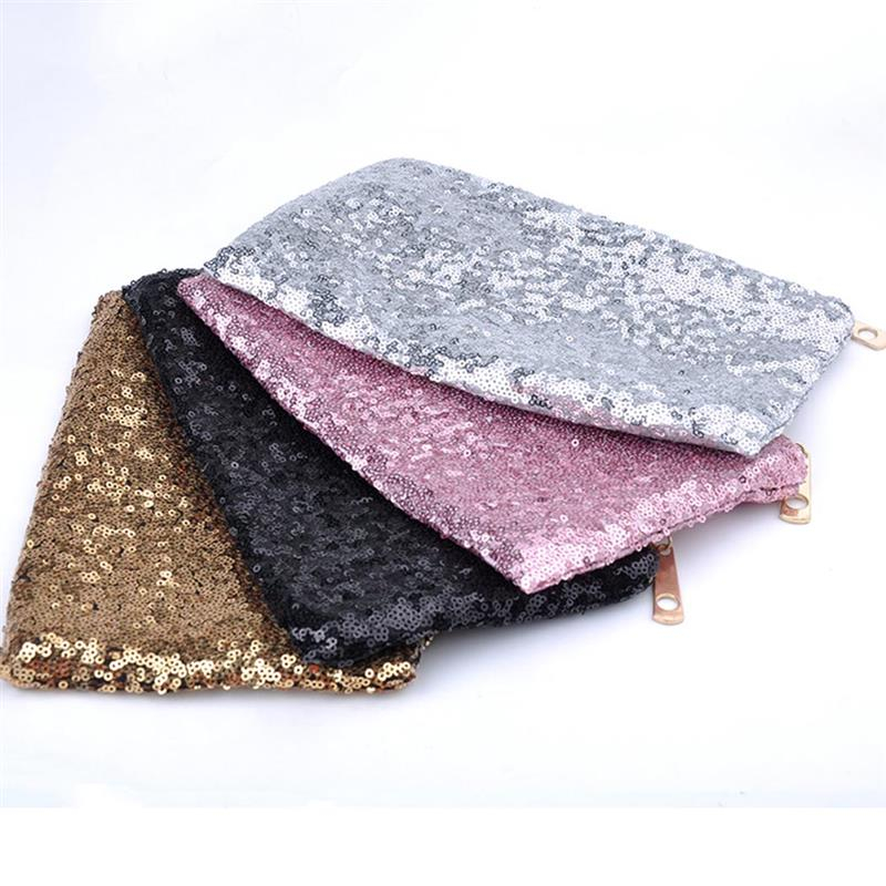 Bling Sequins Women Cosmetic Makeup Bag Female Glitter Evening Clutch Bags For Party Envelope Makeup Hand Bags Pouch