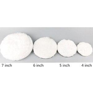 Image 2 - Tampons de polissage en laine pour polisseuse, 1 pièce, pour Machine à polir, cire et peinture de voiture, soins pour polisseuse de voiture 4/5/6/7 pouces