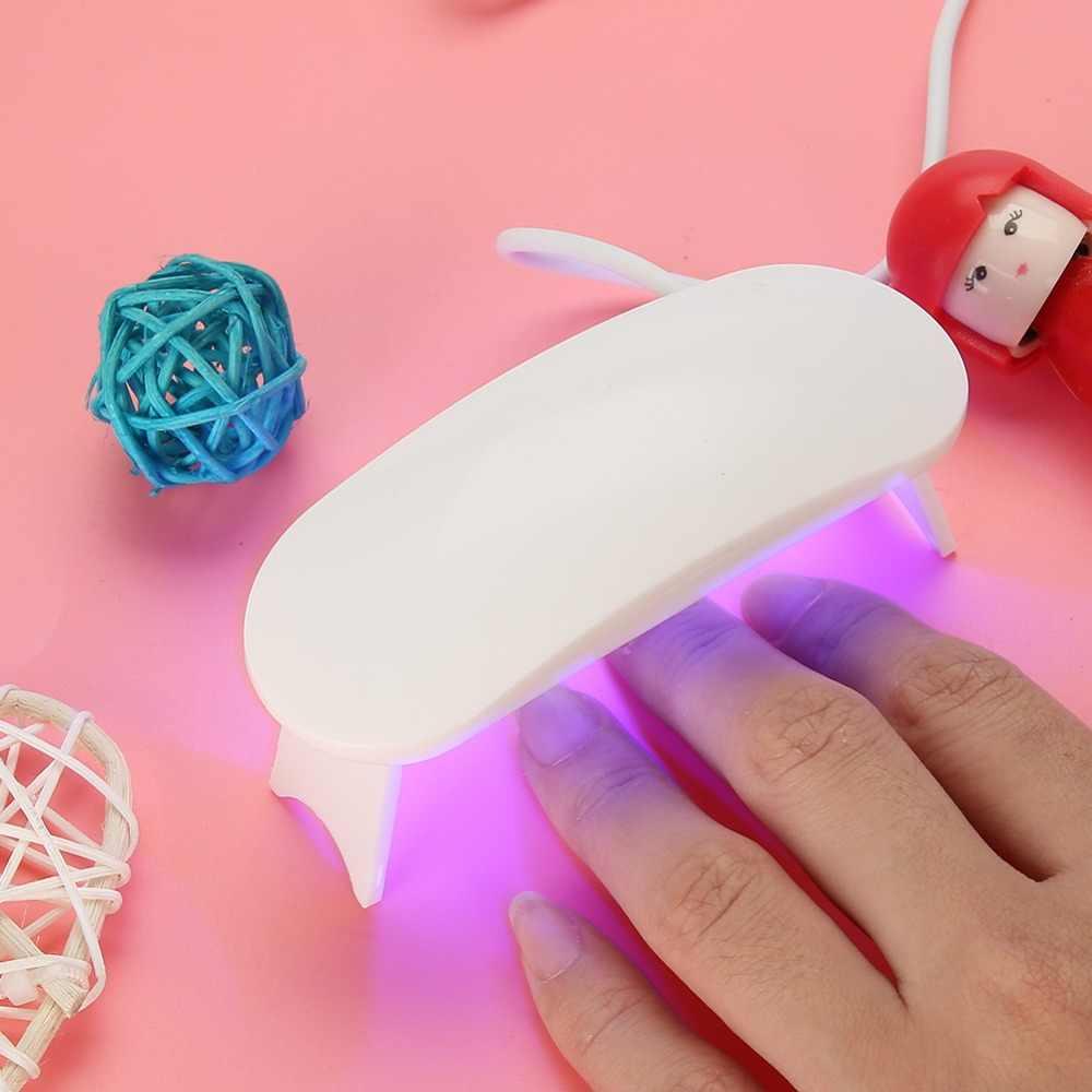 Xách tay 6 W UV Gel Ba Lan Lamp Mini Nail UV Liệu Pháp Ánh Sáng Máy DẪN Đèn  Móng Tay Máy Sấy USB Phí cho gel Nghệ Thuật Làm Móng