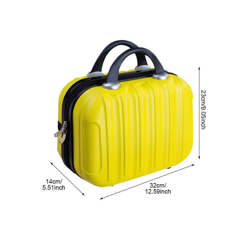 22c8b6576639 Waterproof Fashion Makeup Suitcase Cartoon Travel Cosmetic Pouch ABS Women  Toiletries Case Beauty Tote Cute Handbag Accessories