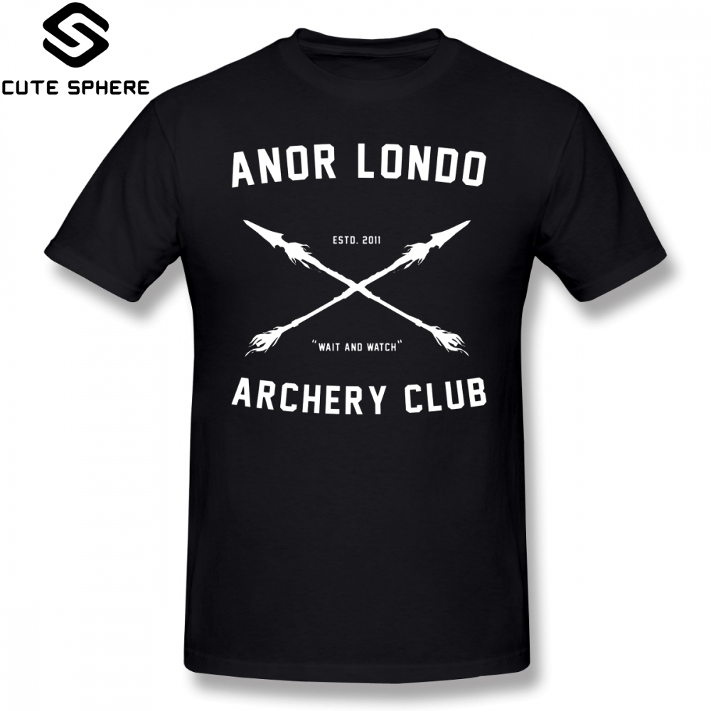Dark Souls   T     Shirt   ANOR LONDO ARCHERY CLUB   T  -  Shirt   100 Cotton 5x Tee   Shirt   Mens Awesome Printed Short-Sleeve Classic Tshirt