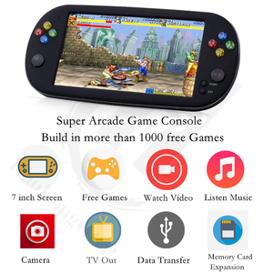 Image 4 - Retro Arcade video game console 8GB memory card with 1500 free games support TV Out Portable Gaming Console for ps1 for neogeo