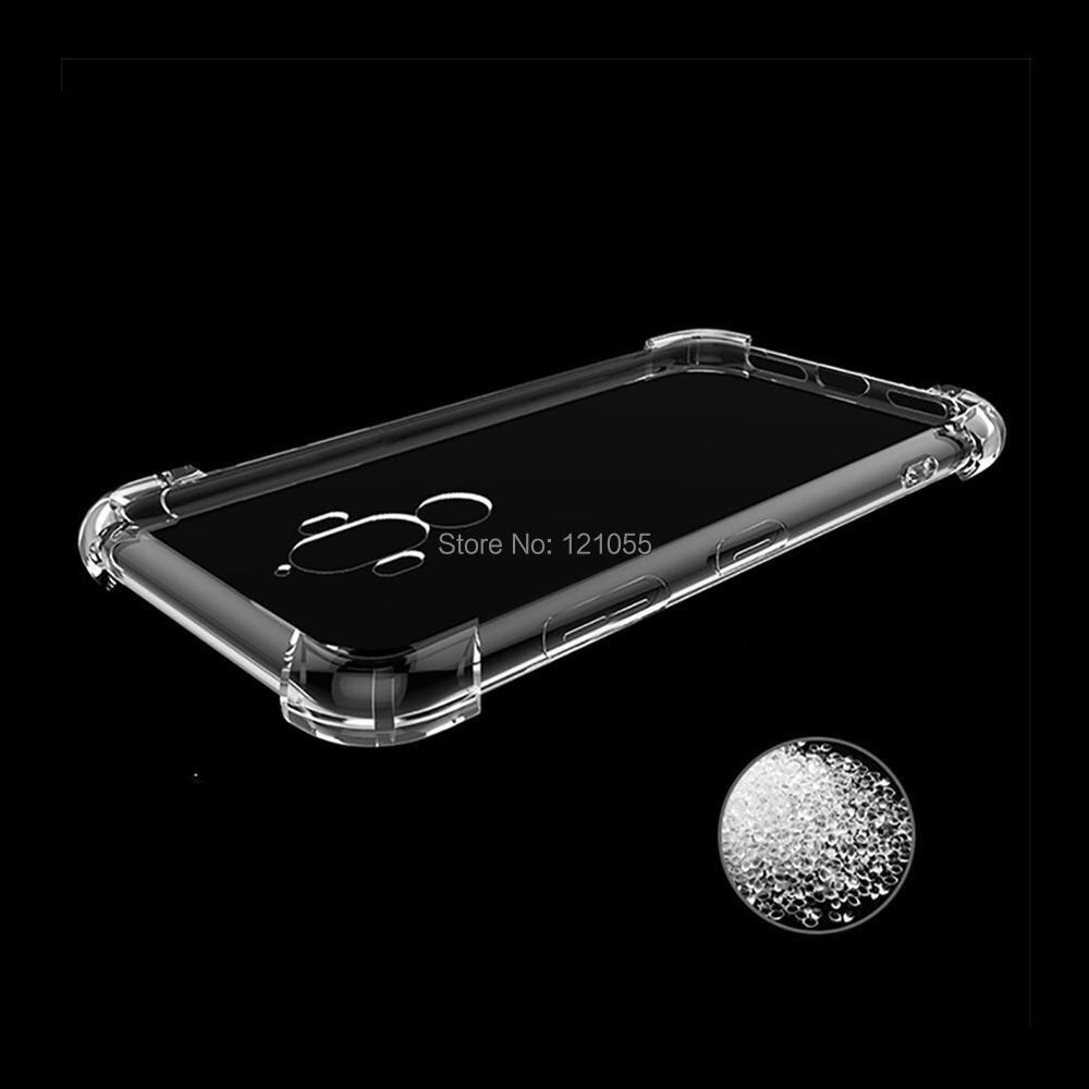 Silikon Fall Für Huawei Mate 20 Pro P20 lite Nova 3 Ehre 9 zurück abdeckung TPU stoßstange Ecke Transparent Klar fall groß 100 pcs/lot - 2