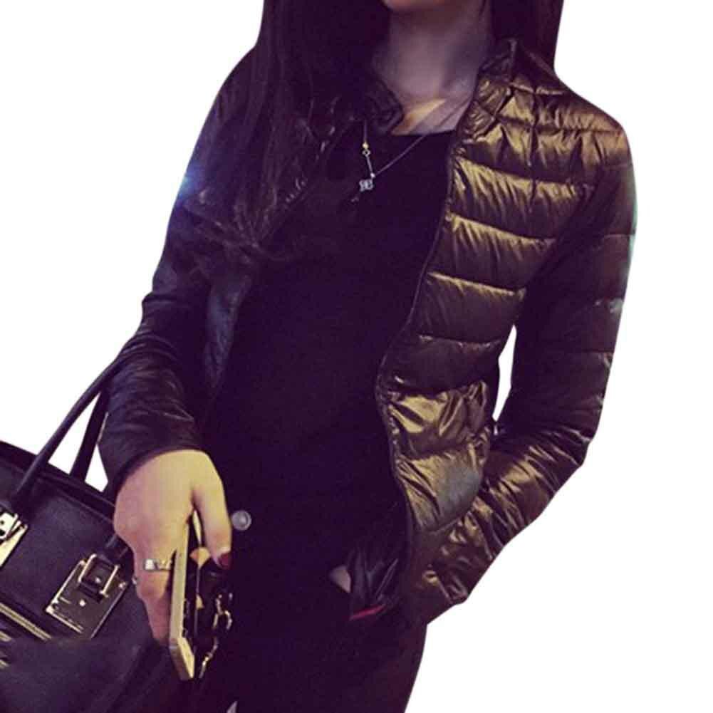 Selfless Women Winter Coat Down Puffer Jacket Warm Short Slim Women Fit Portable Windproof Down Coat Outwear Top