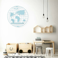 2019 Nordic Style Scandinavian Decor Metal World Map Wall Shelf Kids Room Decoration Rack Organizer Storage Holders Drop Ship
