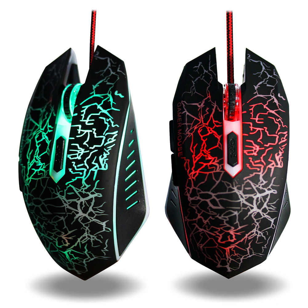 d6270d21527 Gaming Mouse 3200 DPI Adjustable Optical Computer Opto-Electronic USB Wire  Mouse Ergonomic Gamer Mice