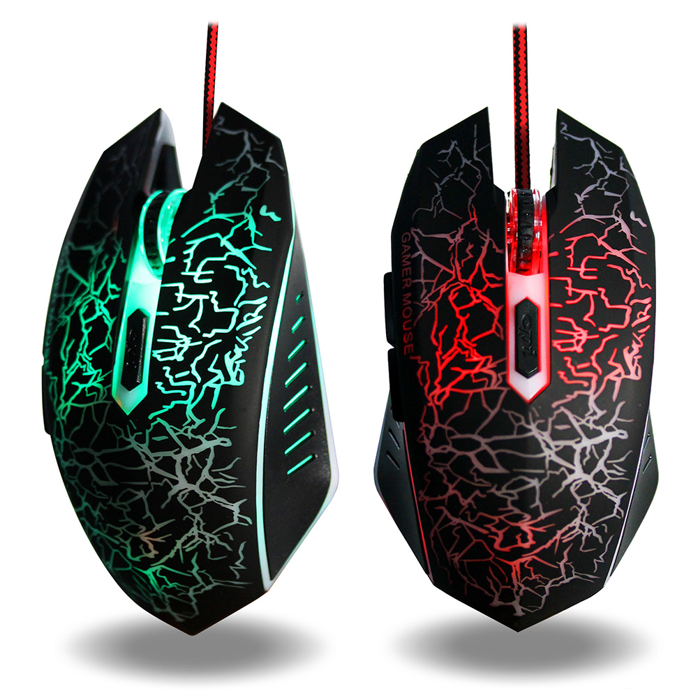 Gaming Mouse 3200 DPI Adjustable Optical Computer Opto-Electronic USB Wire Mouse Ergonomic Gamer Mice For Laptop PC