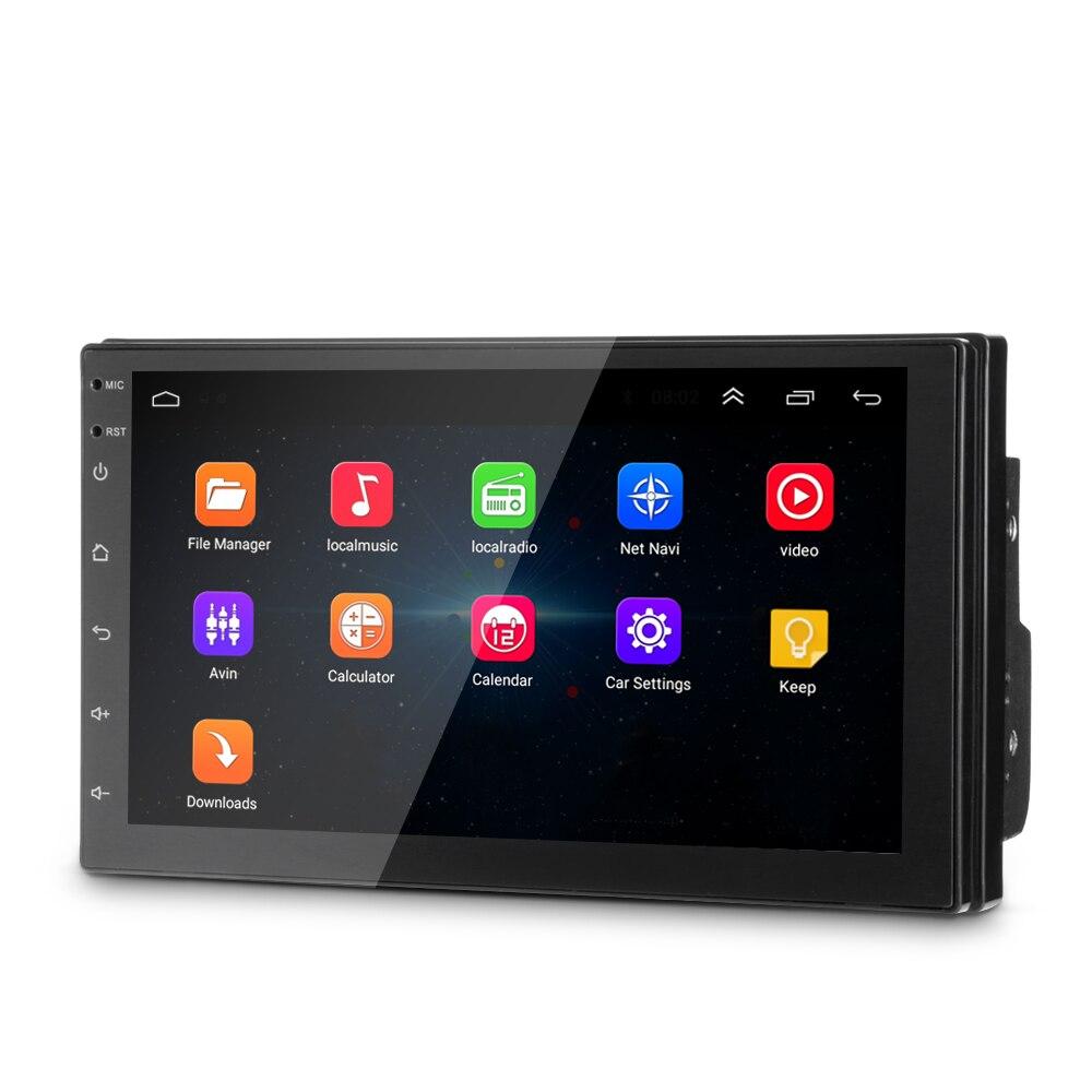 Универсальный 7-дюймовый автомобильный мультимедийный проигрыватель Android 6,0 Bluetooth gps FM/AM радио Зеркало Ссылка Поддержка Видеорегистраторы д...