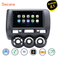 Seicane Android 8.1 Car GPS Navigation For 2002 2003 2008 HONDA Jazz(Manual AC,Right Hand Drive) Multimedia player 2DIN Radio 3G