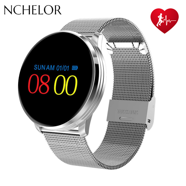 Smart Watch Fitness Tracker with Heart Rate Blood Pressure Monitor Color Screen