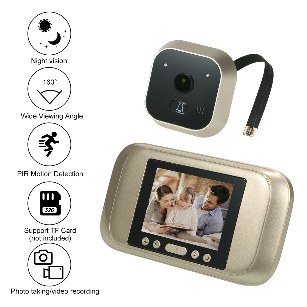 Wireless Digital Peephole Door Viewer 3 2 TFT LCD Monitor 160Degree Wide Angle Len Door Eye