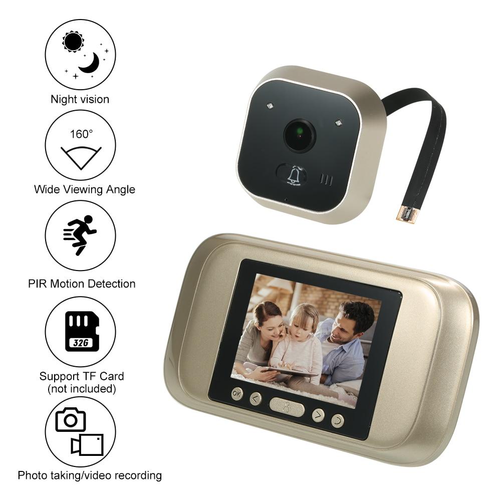 Wireless Digital Peephole Door Viewer 3 2 TFT LCD Monitor 160Degree Wide Angle Len Door Eye