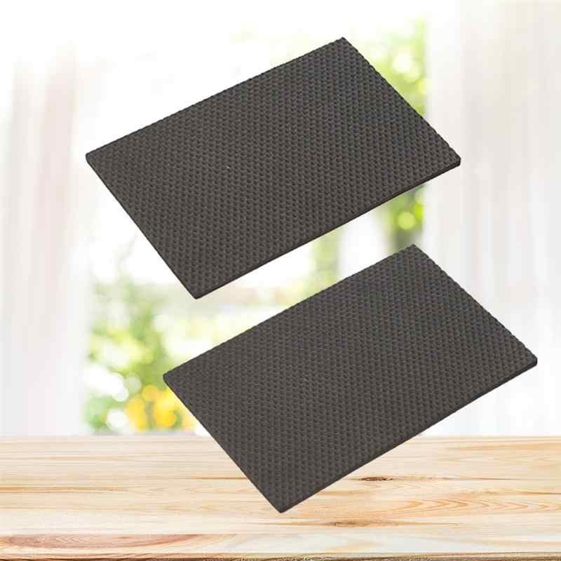 2 pcs Mesa Mat Pés Silencioso Não-Slip Sticky Antifricção Perna Protetores de Piso Inferior Pés Cobertura para Móveis Mesa cadeira cama