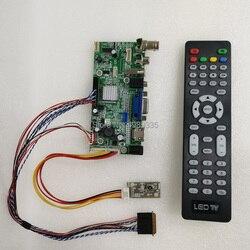 V59 uniwersalny panel sterowników LCD HDMI VGA AV BGC wejście sygnału domu monitorowania pojazdów środowiska mających zastosowanie pilot zdalnego sterowania|Wyświetlacze|Elektronika użytkowa -
