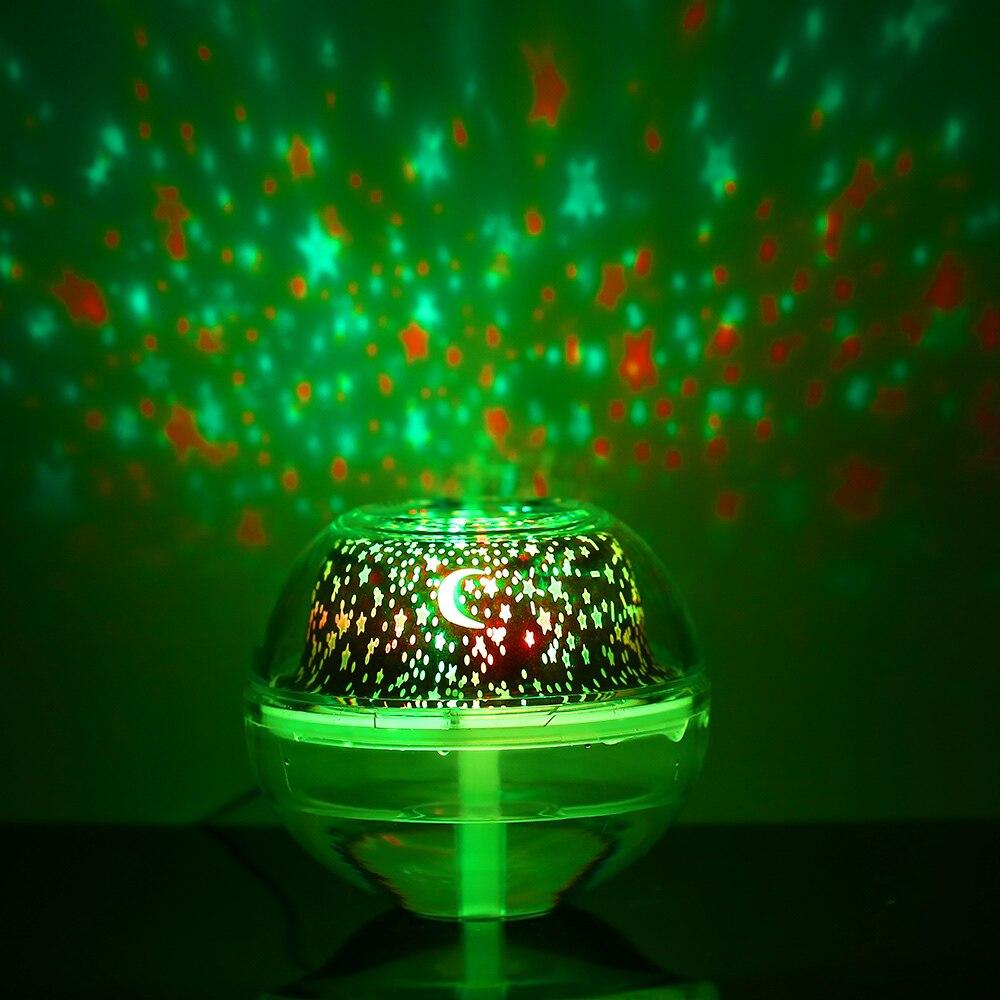 Новый многофункциональный Кристалл ночник проекция с увлажнителем Usb мощность Светодиодный Ночник проектор для детей Крытый дом спальня