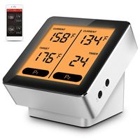 CNC LCD Bluetooth Wireless BBQ Thermometer Kitchen Cooking Thermometer Probe Gauges APP Control Temperature Instrument Tools