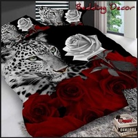 2018 New Leopard&rose Duvet Cover Set Queen Size 3/4pcs Bedding Set Comfortable Bed Linen