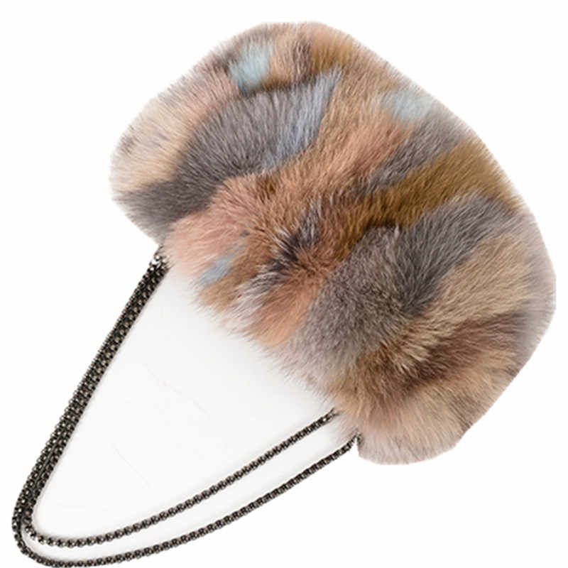 ... Fashion Designer Real Fox Fur Women Messenger Bag Winter New Women  Chain Shoulder Bag Luxury Fur ... 85487d408f673