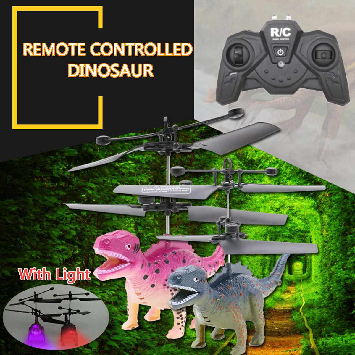 4D Remote Control RC Dragon Flying Dinosaur Helicopter Kids Toy Gift with