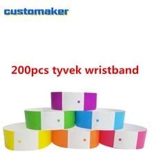 737d312d40cd 200 paquete de papel colorido pulseras para eventos de entrada pulseras para  Bar fiesta privada de la competencia Tyvek pulsera