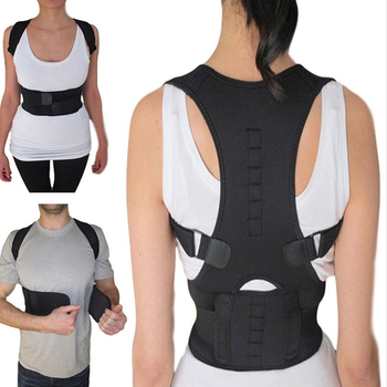 Corrector de postura de espalda magnético para hombres y mujeres soporte Lumbar cinturón de hombro soporte de espalda terapia envolver arnés de hombro