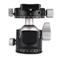D40 Professional Double Panoramic Head CNC Machining Ball Head for Tripod Monopod DSLR Cameras 2019