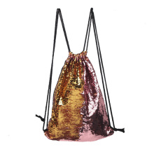 Reversible Sequins Bag twinkling Fashion Backpack Drawstring Backpack Packsack Bling Shining Shoulder Bag Women Sport Bag for