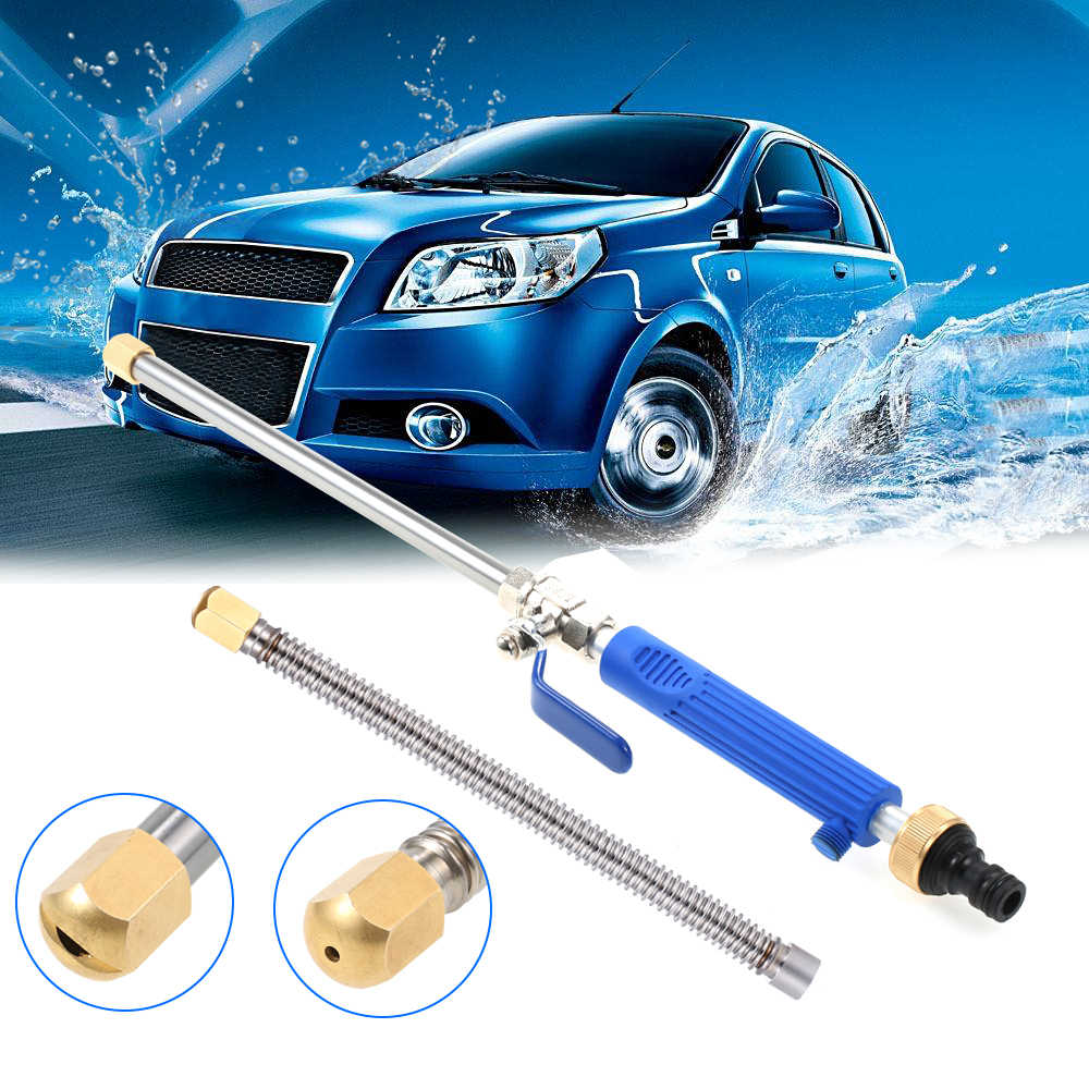 Car High Pressure Power Water Gun Washer Water Jet Garden Washer 2 Spray Tips Hose Wand Nozzle Watering Sprinkler Cleaning Tool