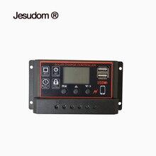 60A50A40A30A20A10A PWM блок управления установкой на солнечной батарее 12 V/24 V авто. ЖК-батарея PV Панель зарядного устройства лампа регулятора 100 Вт 200 Вт 300 Вт 400 Вт 500 Вт