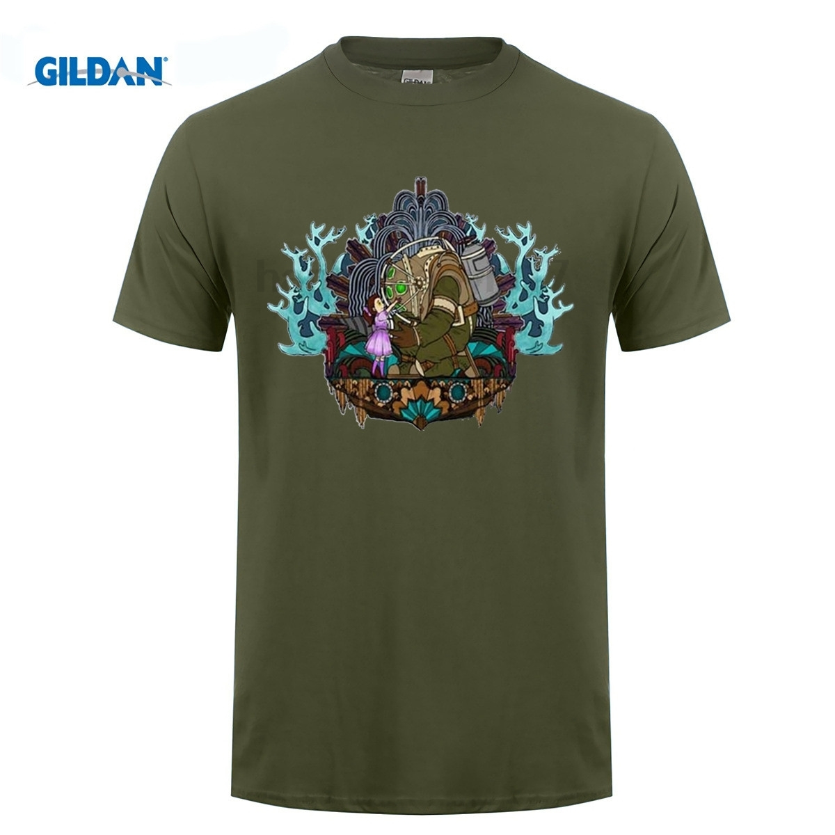 GILDAN men clothes BioShock T-Shirt New Arrival Summer fashion High Quality t shirt casual white print O-Neck top tees