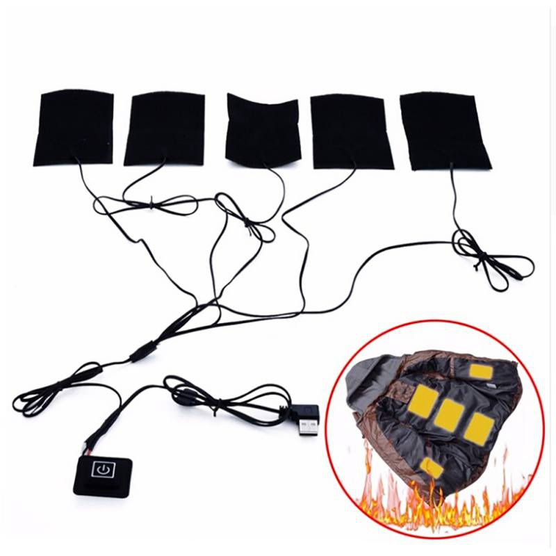 Usb Charged Warm Paste Pads Waterproof Carbon Fiber Heating Pad Safe Portable Heating Warmer Pad For Vest Jacket Cloth Supplie