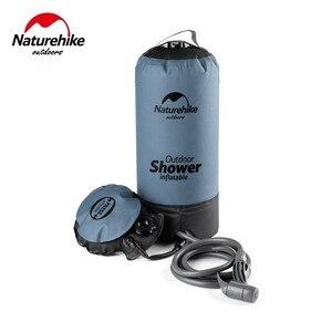 Image 3 - Naturehike 11L Outdoor Baden Wasser Taschen Outdoor Aufblasbare Dusche Druck Duschen Tragbare Camp Dusche Waschen Autos Werkzeuge