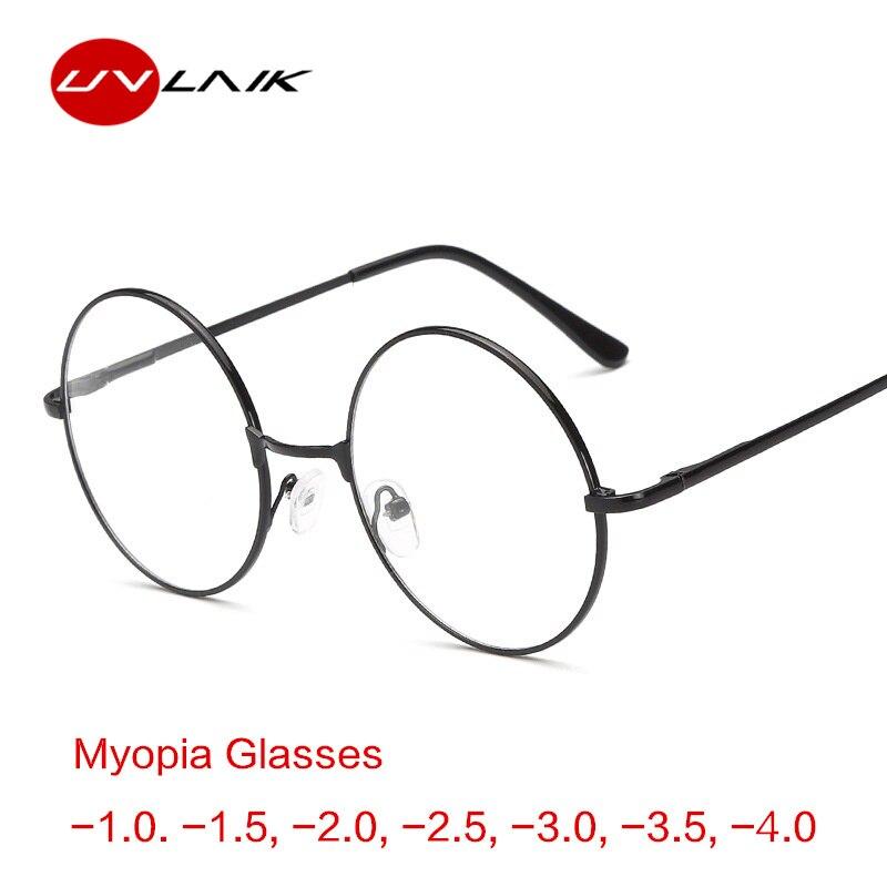 e846d517f9 UVLAIK marco de Metal redondo miope gafas de Harry Potter ultraligero  mujeres miopía gafas hombres-1,0-1,5-2 -2,5-3-3,5-4